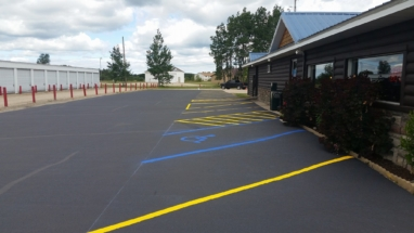 parking lot striping for a restaurant
